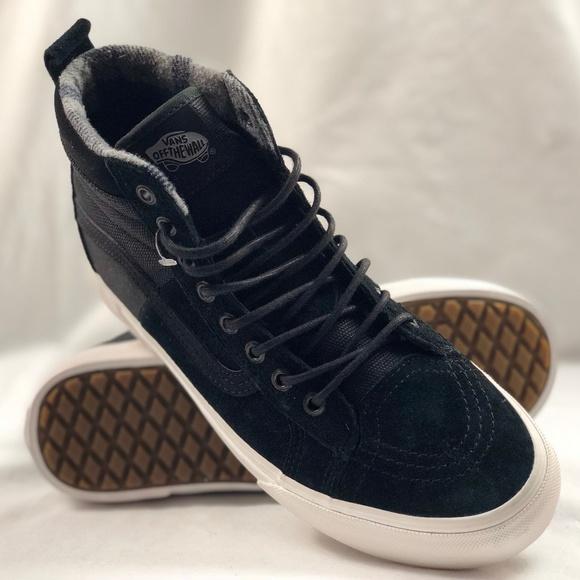 8482b8ff493 Vans SK8-Hi 46 MTE DX Black Flannel Shoes.
